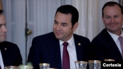 Le président guatémaltèque Jimmy Morales (Twitter)