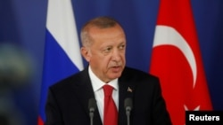Presiden Turki Recep Tayyip Erdogan di Moskow, Rusia, 27 Agustus 2019. (Foto: dok).