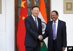 印度国家安全顾问多瓦尔与中国国务委员杨洁篪会晤(2017年12月22日)