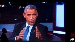Le président Barack Obama a dénoncé les tirs contre les policiers à Ferguson (AP Photo/Jacquelyn Martin)