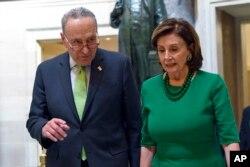 Чак Шумер и Нэнси Пелоси, лидеры демократов в Конгрессе