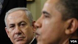Presiden Barack Obama menerima kunjungan PM Israel Benjamin Netanyahu di Gedung Putih (5/3). Kunjungan Netanyahu terkait kekhawatiran atas nuklir Iran.