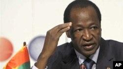 Le président Blaise Compaoré.