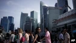 싱가포르 중심가. (자료사진)