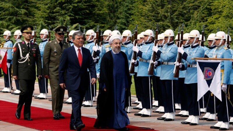 Iran's Rouhani in Turkey Says Tackling 'Terrorism' Is Priority