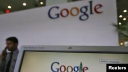 谷歌在印度的一家公司前台(资料照片)