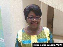 Judith Enwha, secrétaire générale de la CICOS, à Brazzaville. (VOA/Ngouela Ngoussou)