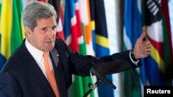 Ngoại trưởng Mỹ John Kerry phát biểu về chính sách của Hoa Kỳ ở châu Phi, Addis Ababa, 3/5/2014