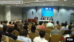前美國國務院亞太副助卿薛瑞福等﹐參加上星期五在華盛頓舉行的一場有關太陽花學運的研討會。