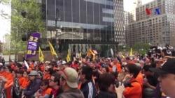 New York'ta 1 Mayıs Kutlamaları Trump Karşıtı Protestolara Dönüştü