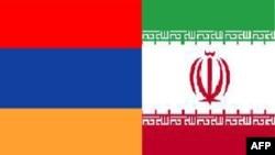 Флаги Армении и Ирана