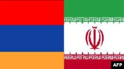 iran armenia flag