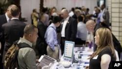 지난 6월 미국 뉴욕에서 열린 고용박람회. (자료사진)