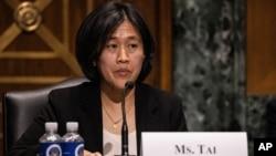 Bà Katherine Tai, Đại diện Thương mại Mỹ (USTR).