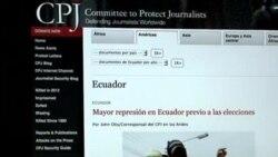 CPJ denuncia represión contra la prensa en Ecuador