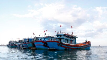 Tư liệu - Tàu cá neo đậu gần đảo Lý Sơn thuộc tỉnh Quảng Ngãi.
