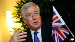 Bộ trưởng Quốc phòng Anh Michael Fallon. (Ảnh tư liệu)