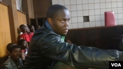 Tajamuka-Sesijikile Campaign spokesman Promise Mkwananzi in court on Saturday.
