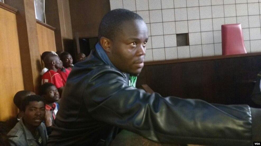 Tajamuka-Sesijikile Campaign spokesman Promise Mkwananzi in court on Saturday.