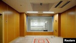 Chambre d'exécution d'une prison de Tokyo, Japon, le 27 août 2010