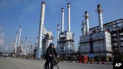 FILE - Tehran oil refinery, Dec. 22, 2014.