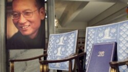The unclaimed Nobel document and medal were placed in an empty chair meant for Peace Prize winner Liu Xiaobo