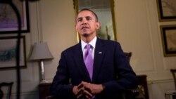 Presiden Barack Obama dalam pidato mingguannya menjelang pemilu sela.