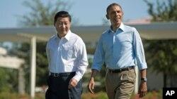 美國總統奧巴馬與中國國家主席習近平去年曾經在加州莊園會面。