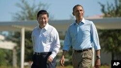 習近平與奧巴馬2013年6月在美國加州安納伯格莊園會晤