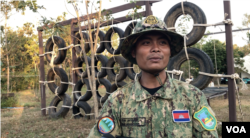 Reth Phearun, park ranger, speaks to VOA Khmer in Cambodia's wildlife sanctuary in Mondulkiri province's Koh Nhek district on Jan. 17, 2021. (Aun Chhengpor/VOA)