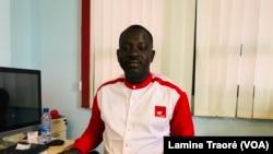 Ouezen Louis Oulon, le directeur-général d'Oméga Médias, Ouagadougou, le 9 juin 2021. (VOA/Lamine Traoré)