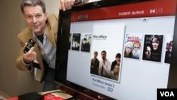 Reed Hastings, director de Netflix, en la casa matriz de la compañía en Los Gatos, California.