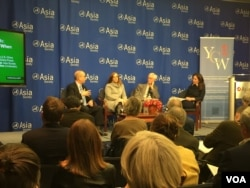 亞洲協會舉行川普亞洲行討論會 (美國之音 方冰拍攝)