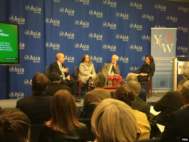 亞洲協會舉行川普亞洲行討論會(美國之音方冰拍攝)