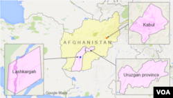 Kabul, Lashkargah, and Uruzgan province, Afghanistan