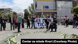 Bosnia and Herzegovina - Prijedor - A commemoration on White Ribbons Day - May 31st 2020