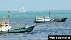 جنوبی بحیرہ چین میں ماہی گیروں کی کشتیاں(فائل)