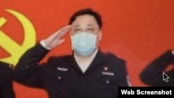 中國公安部副部長孫力軍(美國之音葉兵拍攝推特截圖)