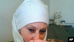 "This undated image was obtained from a website US authorities say was maintained by terror suspect Colleen LaRose, an American woman known as ""Jihad Jane"""