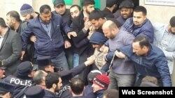 """""""Sovetski"""" adlanan ərazisində """"Hacı Cavad"""" məscidi sökülür"""