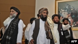 طالبان رہنماؤں کی بڑی تعداد امن معاہدے پر دستخط کی تقریب میں موجود تھی۔