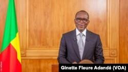 Patrice Talon, lors de son discours à l'occasion des 60 ans d'indépendance, à Cotonou, Bénin, le 1 août 2020. (VOA/Ginette Fleure Adandé)