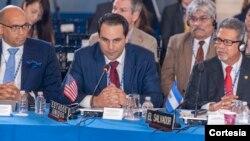 El embajador de EE.UU. ante la OEA, Carlos Trujillo, visitó Nicaragua en antesala a una sesión extraordinaria que se realizará el viernes 22 de junio en la sede del organismo en Washington para abordar la crisis en el país centroamericano.