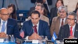"""El embajador de EE.UU. ante la OEA, Carlos Trujillo, recalcó que """"es el pueblo nicaragüense que está cansado de la opresión y de la falta de democracia y de oportunidades en el país, eso no tiene nada que ver con la OEA""""."""