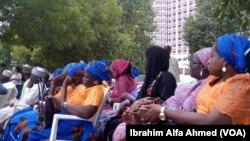 'Yan Kungiyar BBOG A Dandalin Unity Fountain Don Murnar 'Yan Matan Chibok Da Aka Samo