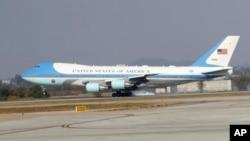 Air Force One, biểu tượng của tổng thống Mỹ.