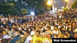 有参加2014年七一预演占中的人士被拒入境澳门(苹果日报图片)