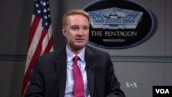 FILE - Former Deputy Assistant Secretary of Defense Michael Carpenter, who worked under former President Barack Obama, is shown in an interview with VOA.
