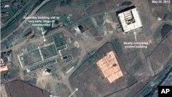 最近的衛星圖片顯示,直到5月底,朝鮮同河火箭發射場工程仍未恢復。(5月26日資料照片)