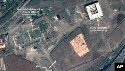 지난 2013년 5월 북한의 동해 미사일 발사장 건설 모습을 보여주는 위성 사진.